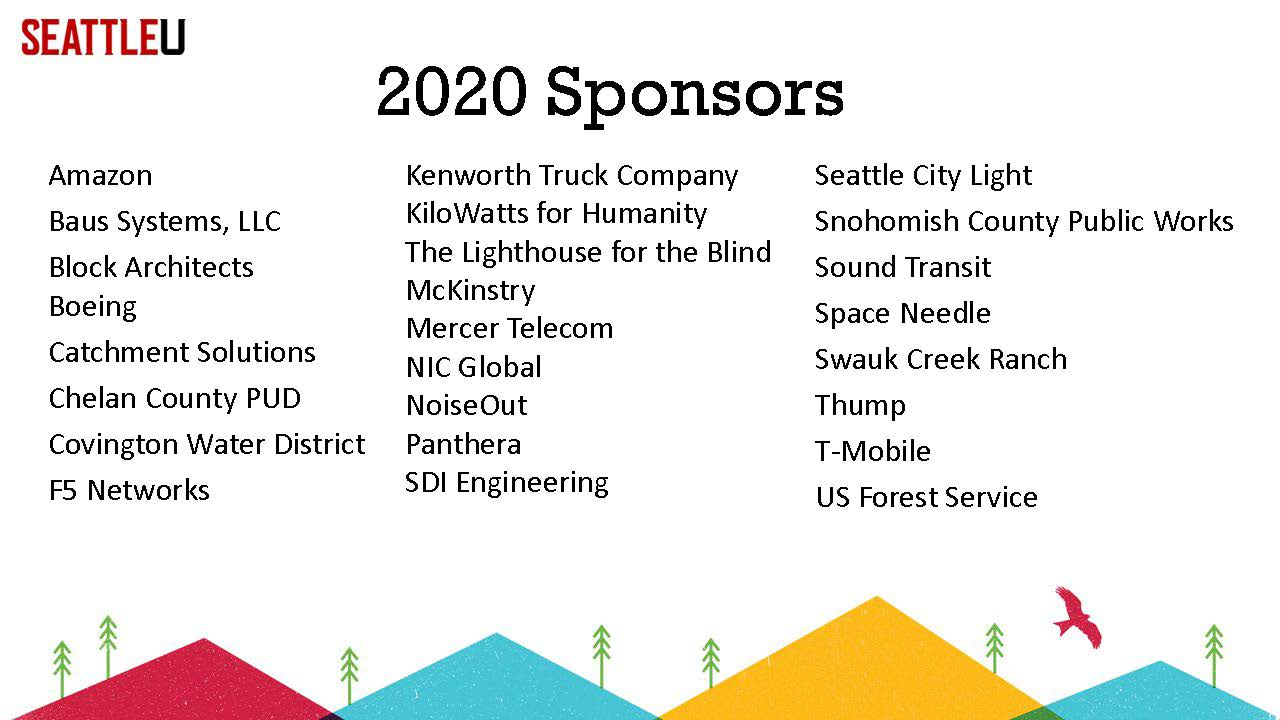 2020 Project Center Sponsor List NAMES ONLY
