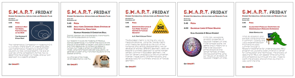 Image of 5 SMART Friday posters