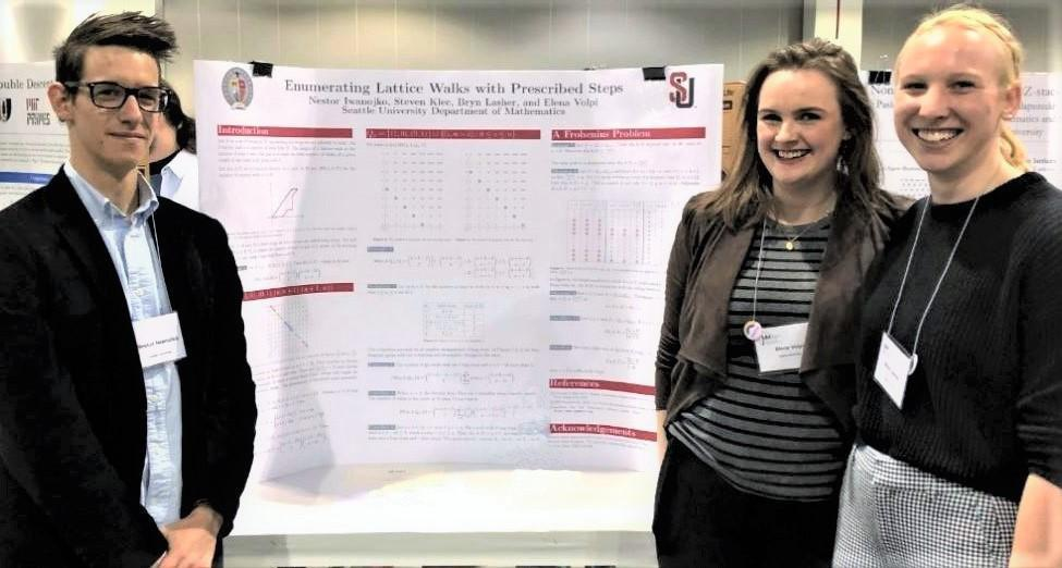 Three SU students with research projects at Joint mathematics meeting