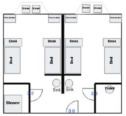 Chardin Triple Room Layout