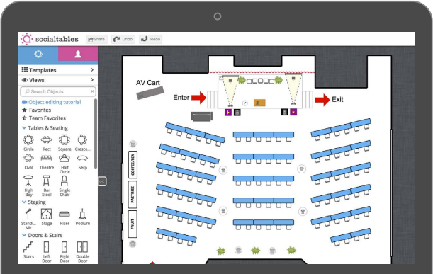 Social Tables Diagram