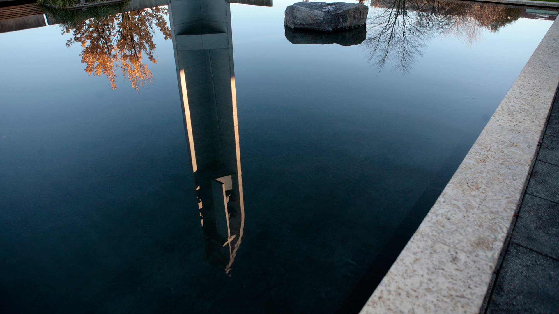 Bell Tower in Reflection Pool