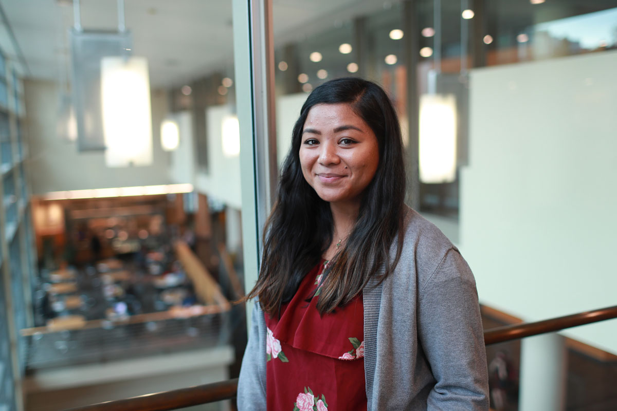 Jackie Borgonia, is a first-year law school student at Seattle University. Borgonia is from Bremerton, Wash.