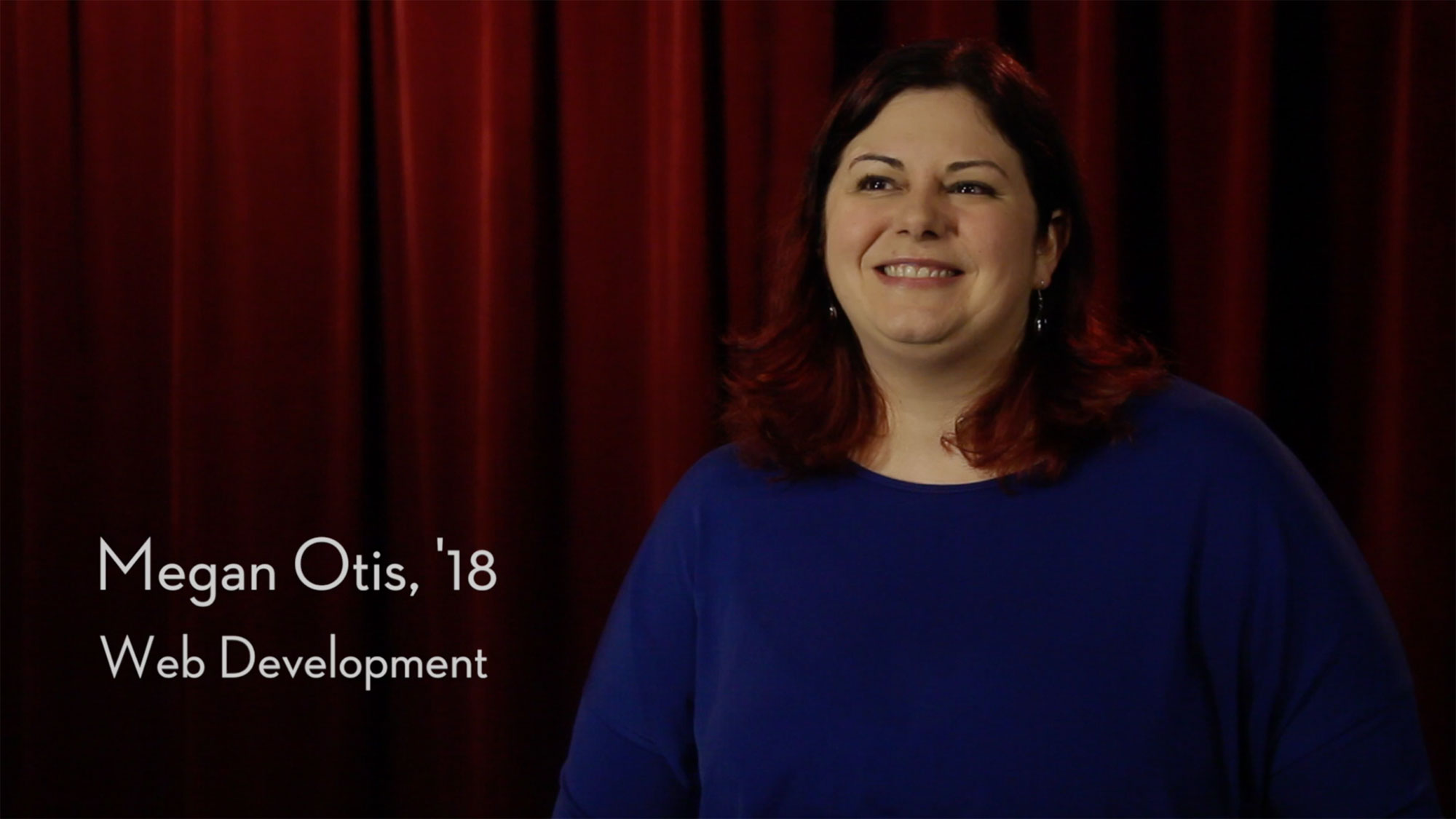 Megan Otis, '18 Web Development