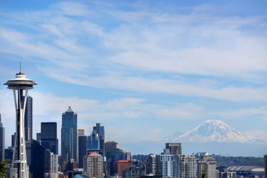 Seattle Skyline with Mt. Rainer in the background