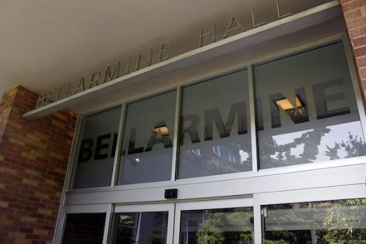 Entrance way to Bellarmine Hall
