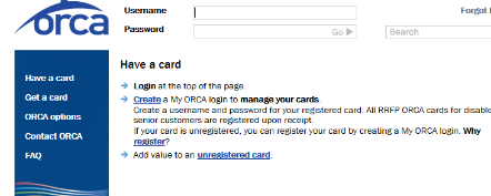 How to register your Non-LIFT Orca card - Non-Lift ORCA - Student