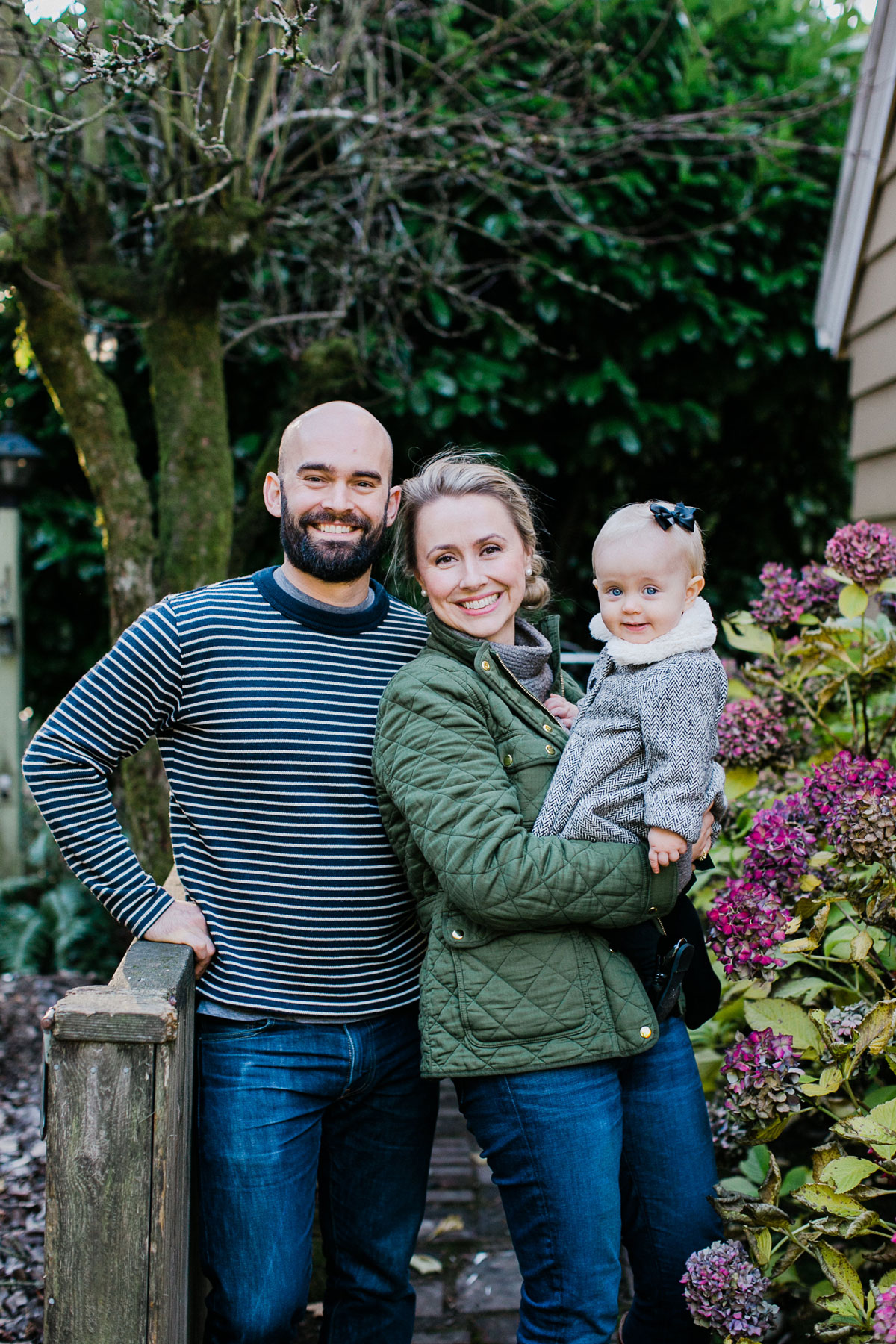 Laura Drew and Ben Artaiz holding their fist child Beverly Margaret Artaiz.