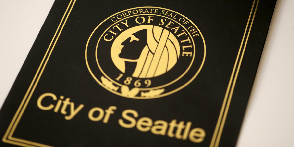Cover of the City of Seattle Proclamation